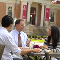 Ripon College President interacting with students. :: Ripon College