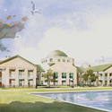 University Campus in Art :: Charleston Southern University