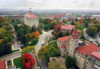 Dyche Hall Arial :: University of Kansas