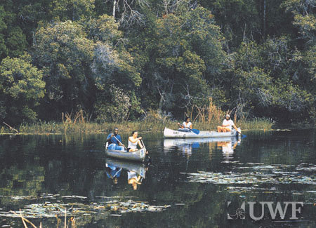 UWF has on-campus hiking, biking, canoeing, kayaking and 1,600 acres of nature preserve.  :: The University of West Florida