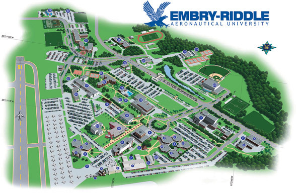 Campus Photo Embry Riddle Aeronautical University Daytona Beach