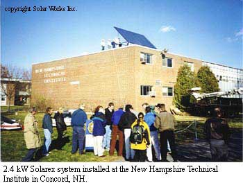 solarex system installed in the campus :: NHTI-Concord's Community College