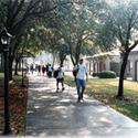 Student walking in the Campus :: Jefferson Davis Community College