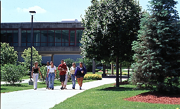Student walking in the Campus :: Moraine Valley Community College