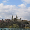 Georgetown University from Key Bridge :: Georgetown University