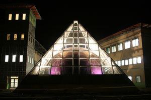 The planetarium dome pyramid :: Texas A & M International University